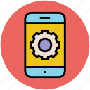 gear, mobile, optimization, options, preferences, settings icon