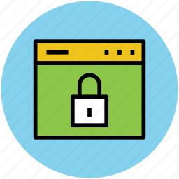 application, browser, data protection, web safety, webpage, website blocked, website security icon