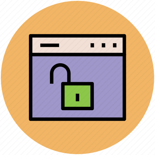 lock open, unlock web, unsafe, web unsecure, webpage icon