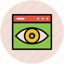 online web visible, retina, visibility, web appear, web visibility icon
