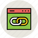 chain, connectivity, link, link chain, linked, url icon
