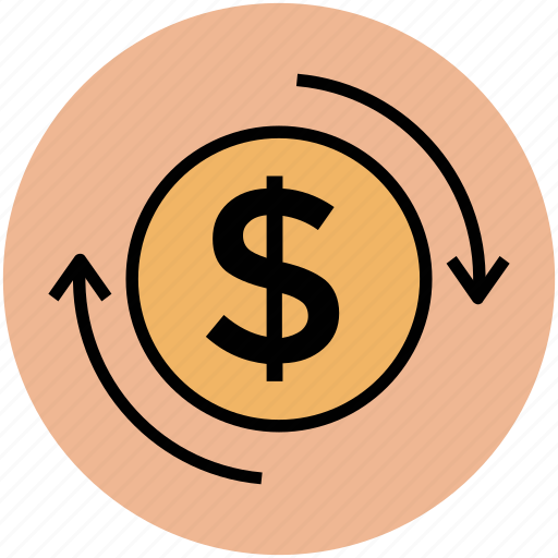 currency conversion, currency exchange, dollar, money, money exchange icon