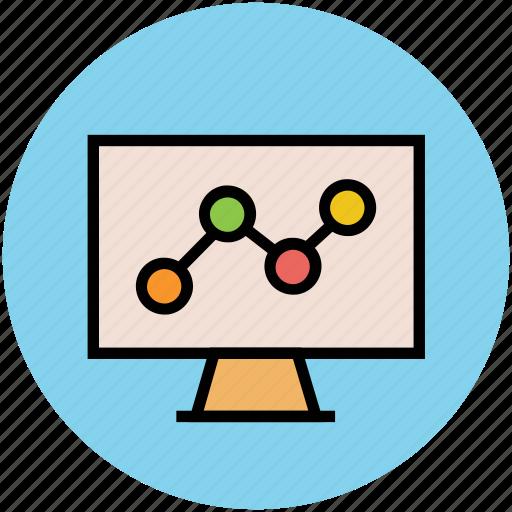 bullet graph, business, graph, graph screen, seo icon