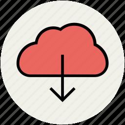 cloud computing, cloud download, cloud downloading, cloud network, storage cloud icon