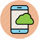 cloud computing, cloud network, icloud, mobile, network, onedrive icon