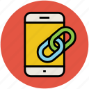 chain, connectivity, link, link chain, linked, mobile linkage icon