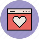 heart, heart shape, like, love, valentine icon