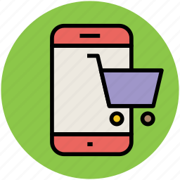 cart, e commerce, m commerce, mobile shopping, online shopping, shopping app icon