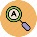 magnifying, search, search glass, searching tool, text search icon