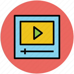 media player, movie play, multimedia, pause, video, video player icon