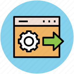 cogwheel, gear, setting, web gear, web optimization, web setting icon