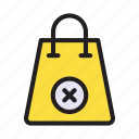 bag, buyinig, delete, shopper, shopping icon