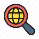browsing, find, internet, magnifier, search icon