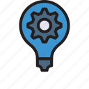 bulb, configure, idea, light, setting icon