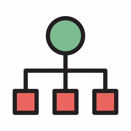 connection, diagram, hierarchy, network, structure icon