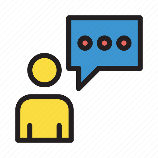 chat, comment, discussion, message, user icon