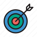 achievement, aim, goal, success, target icon