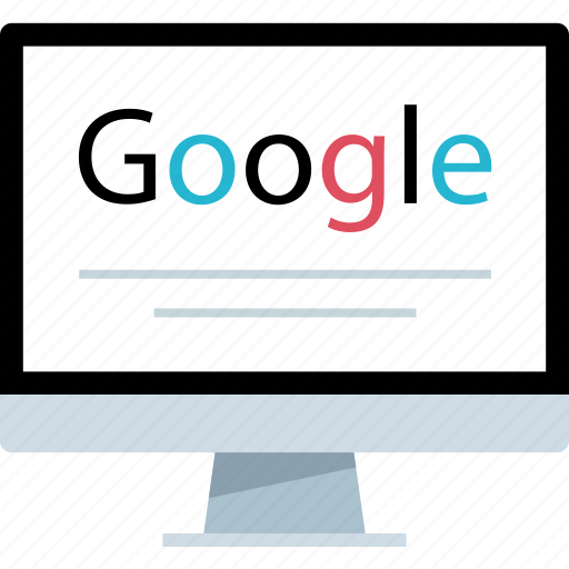 find, google, look, search icon