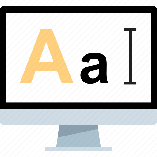 letter, lettering, mac, pc icon