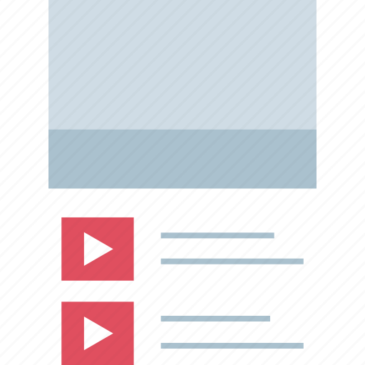 play, video, youtube icon