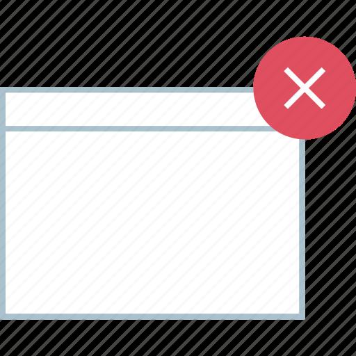 delete, denied, stop icon