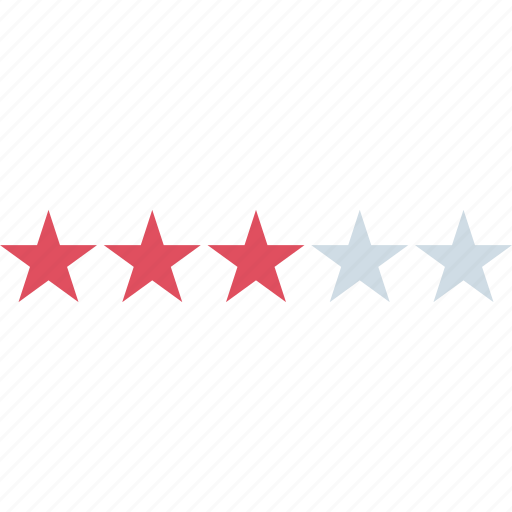 rating, star, three icon