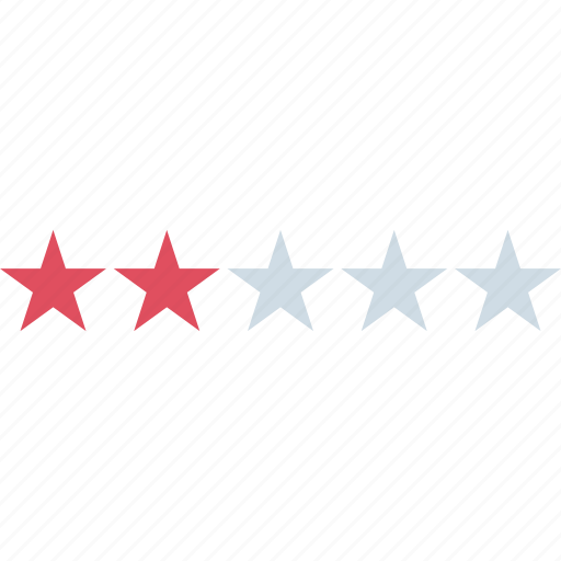 rating, star, two icon