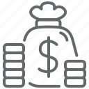 bag, business, buy, coin, dollar, finance, money icon