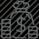 buy, finance, business, money, dollar, bag, coin