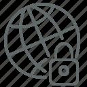global, globe, internet, locked, net, netwrok, private
