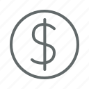 conversion, currency, dollar, finance, money, sales icon