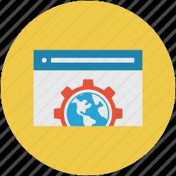 browser, settings, webpage, website development icon