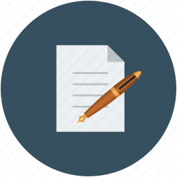 agreement, contract, document, pen icon
