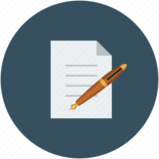 agreement, contract, document, pen icon
