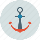 anchor, marine, ship, ship anchor icon