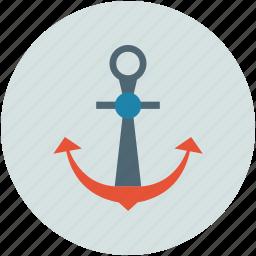 anchor, marine, ship, ship anchor icon