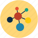 molecular, molecule, molecule shape, research icon