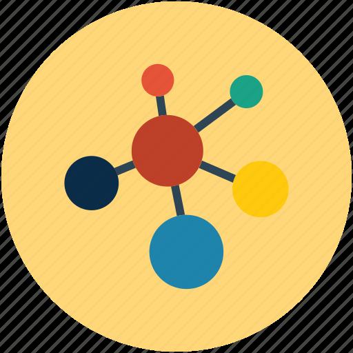 molecular, molecule, molecule shape, research icon
