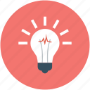 bulb, creative campaigns, idea, light bulb icon