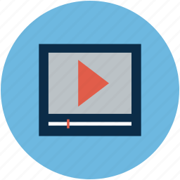 media, play, play sign, video marketing icon