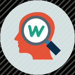 keywords, search, searching, seo icon