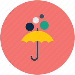 insurance, protection, rain bubbles, umbrella icon