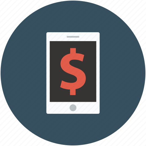 dollar displaying, dollar sign, screen, tablet icon