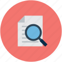 magnifier, page, search, search page icon
