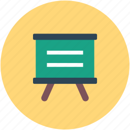 business, easel, presentation, statistics icon