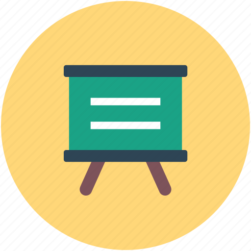 business, easel, presentation, statistics icon