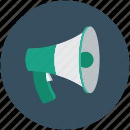 loudspeaker, megaphone, sound, speaker icon