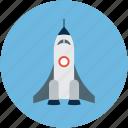 launch, spacecraft, spaceship, spaceshuttle icon