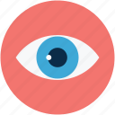 eye, human eye, search, view icon