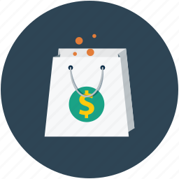 dollar sign, shopper, shopping, shoppingbag icon